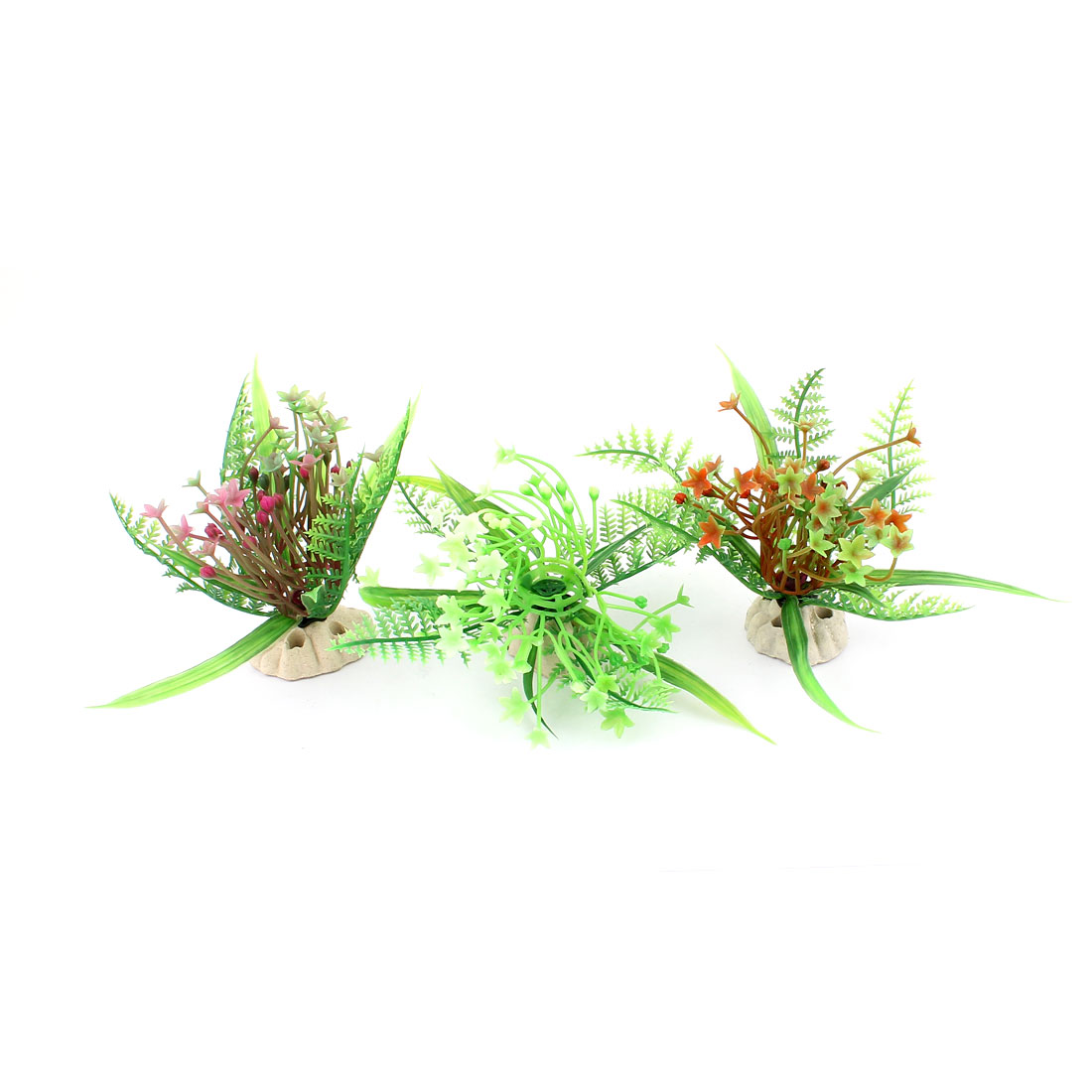 Plastic Aquascaping Underwater Plant Grass Aquarium Decor 3pcs