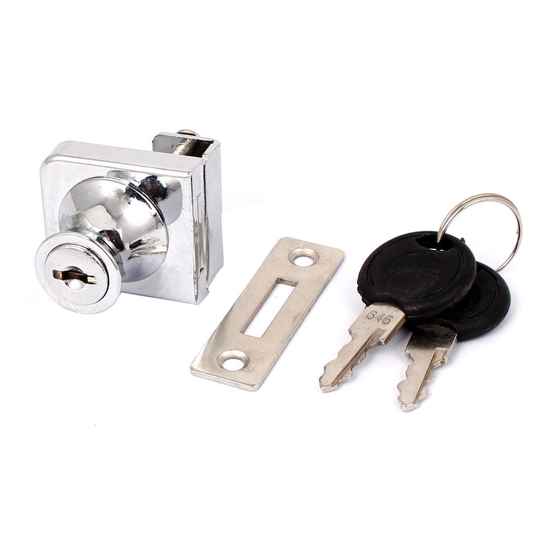 Showcase Display Cabinet Drawer Glass Door Single Head Security Lock w 2 Keys