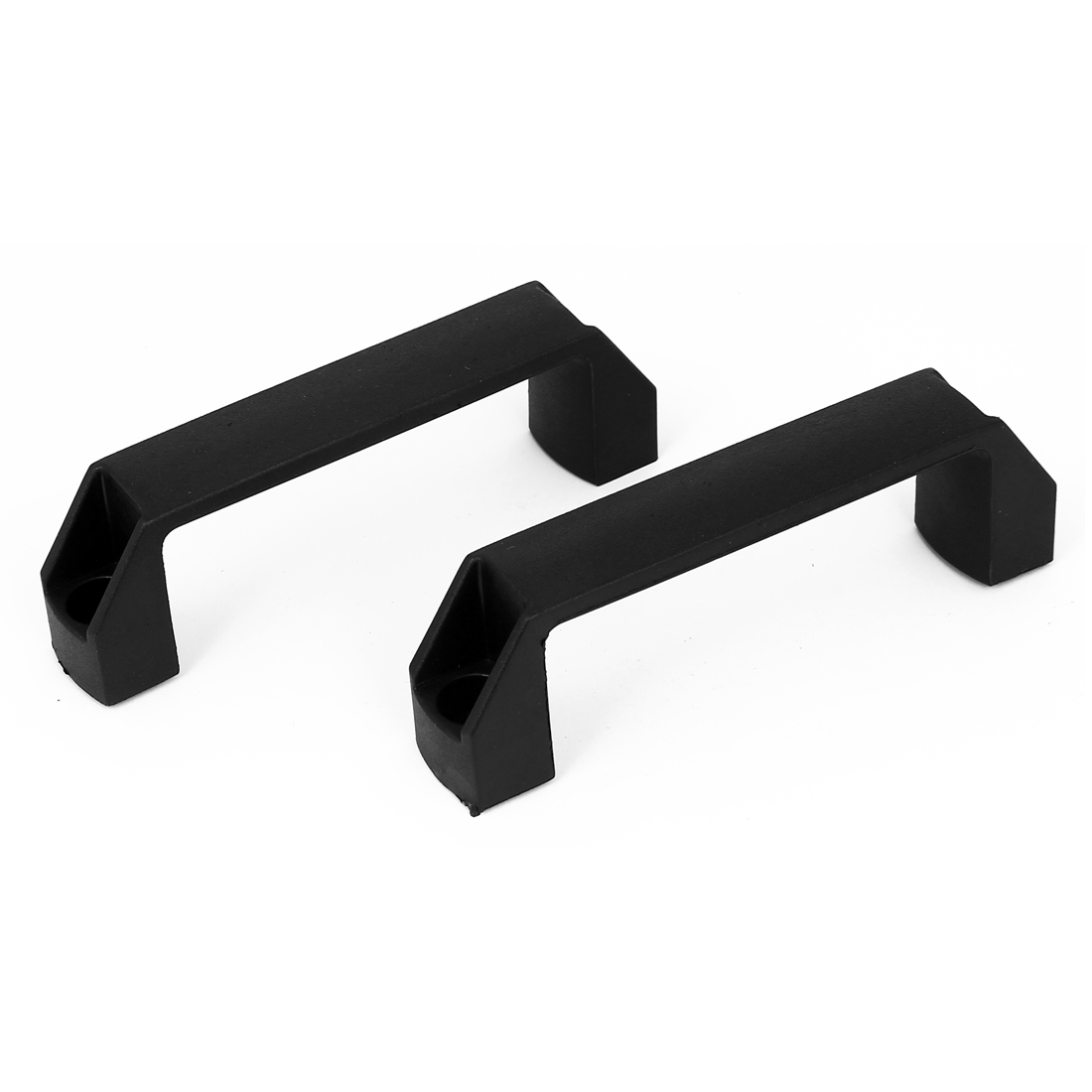 "2pcs 5.4"" Long Rectangle Plastic Pull Handle Knob Black for Cabinet Cupboard Door"