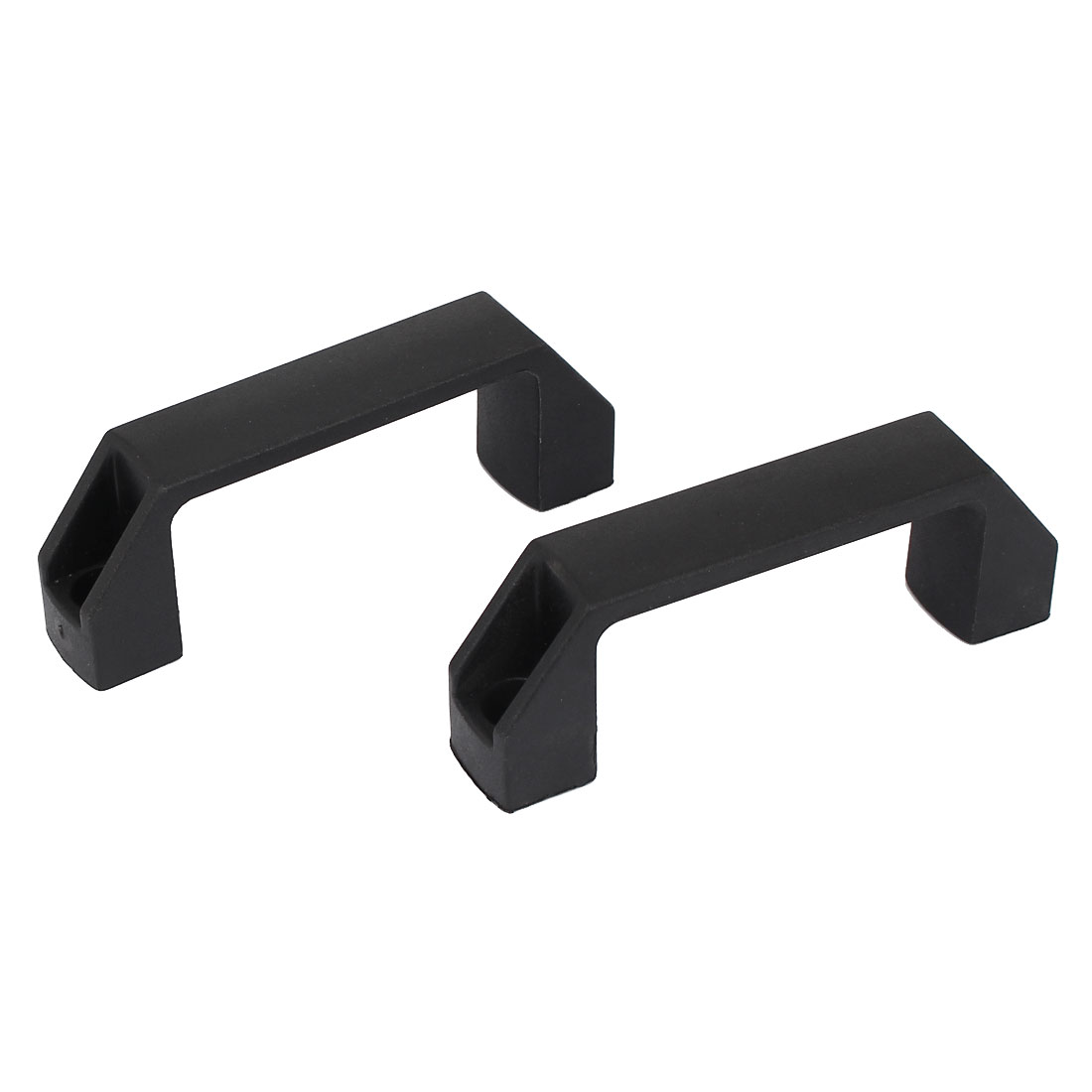 "2pcs 4.2"" Long Rectangle Plastic Pull Handle Knob Black for Cabinet Closet"