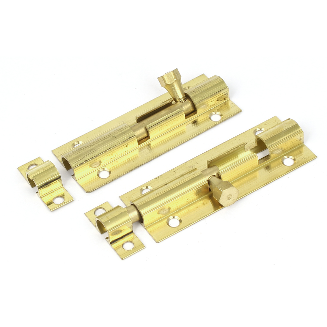 "Drawer Dresser Wooden Case 2.8"" Length Security Lock Brass Barrel Bolt Latch 2pcs."