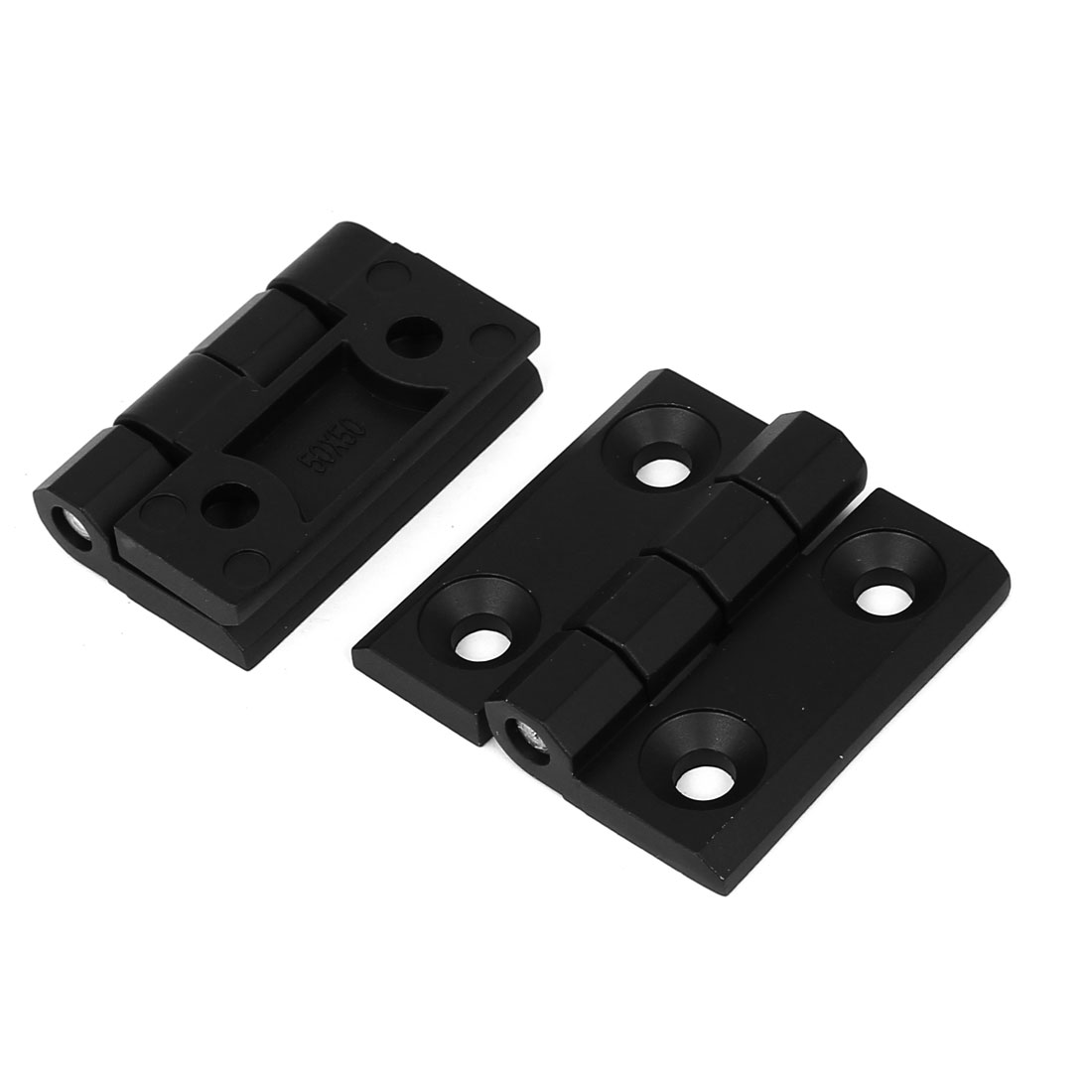 Closet Cupboard Cabinet 50mm x 50mm Zinc Alloy Door Butt Hinge Black 2pcs