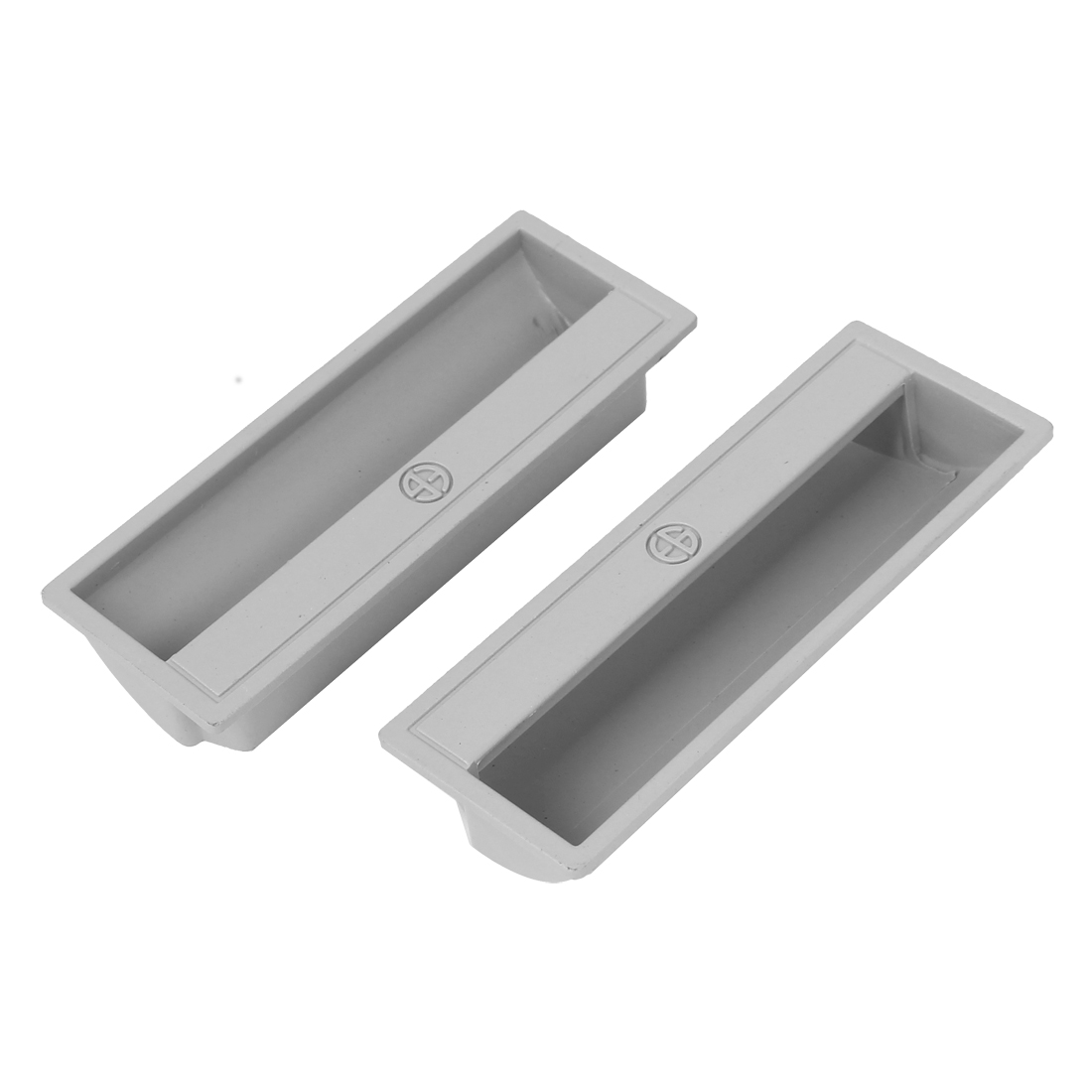 Kitchen Bedroom Cabinet Wardrobe Recessed Sliding Insert Door Handle Finger Pulls 2pcs