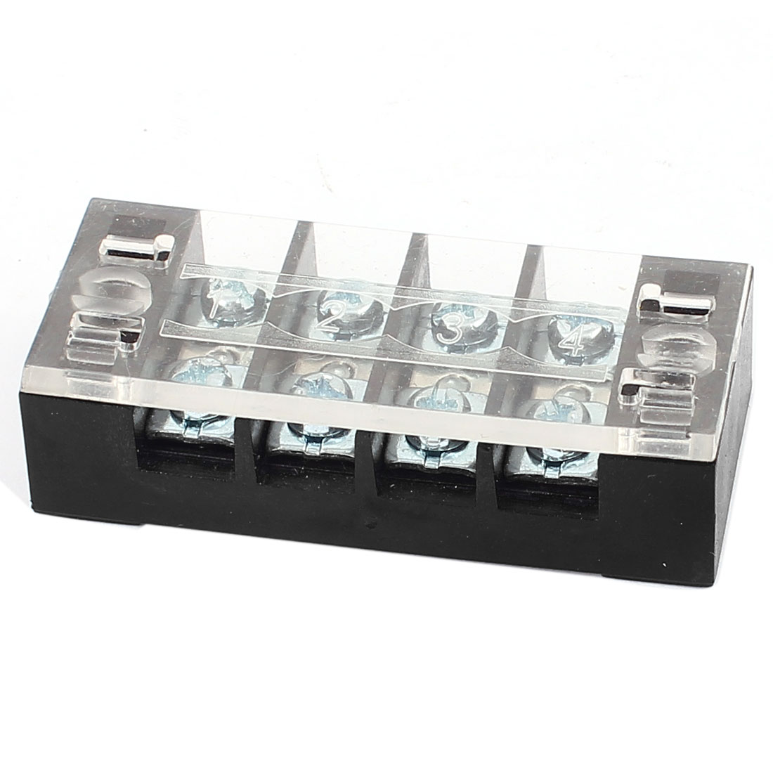 600V 25A Dual Rows 4 Positions Screw Connector Electric Barrier Terminal Block