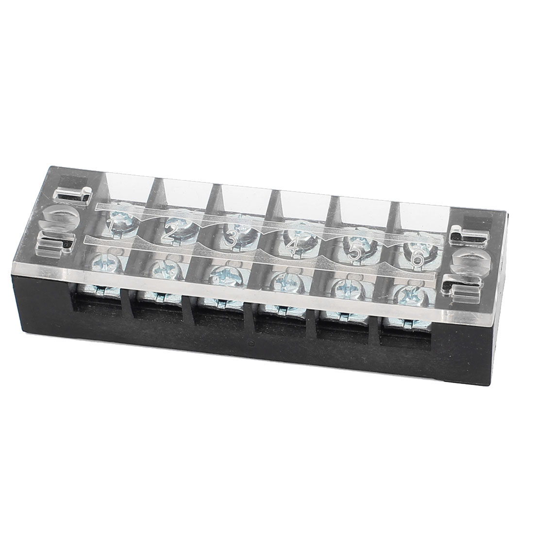 600V 25A Dual Rows 6 Positions Screw Connector Electric Barrier Terminal Block