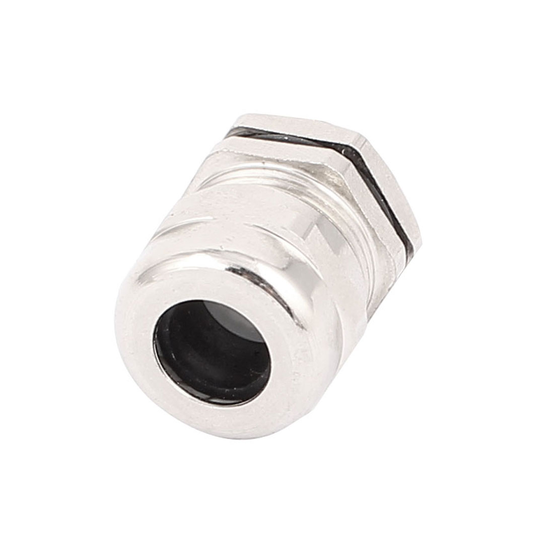 PG11 Thread Waterproof Cable Gland for 5-10mm Cable Silver Tone