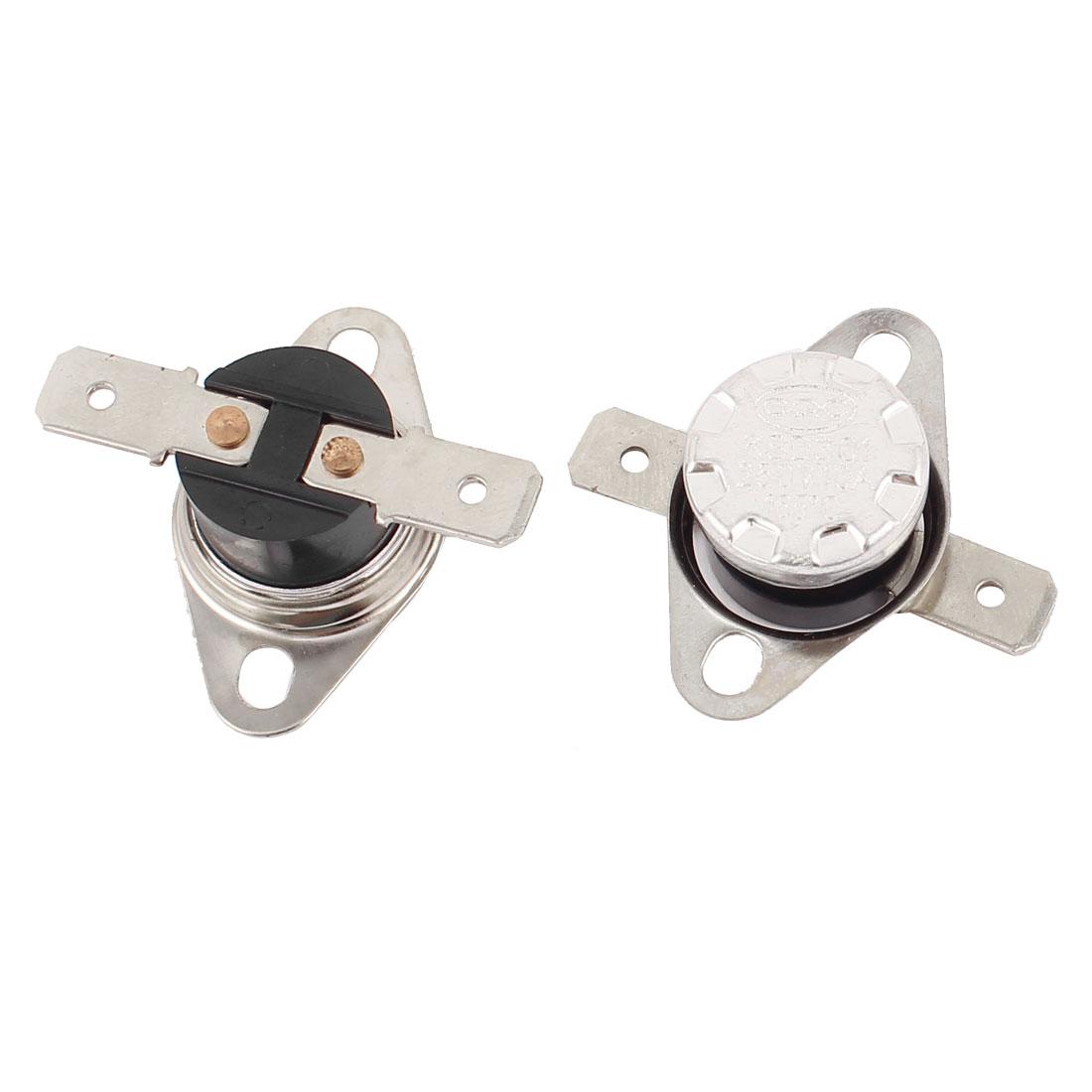 2 Pcs KSD301 Temperature Control Switch Thermostats 250V 10A 165 Celsius N.O.