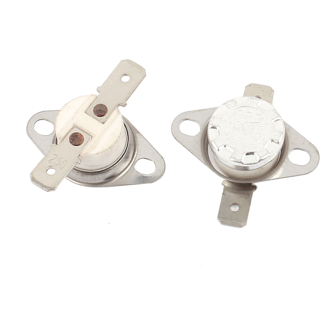 2 Pcs KSD301 Temperature Control Switch Thermostats 250V 10A 250 Celsius N.C.