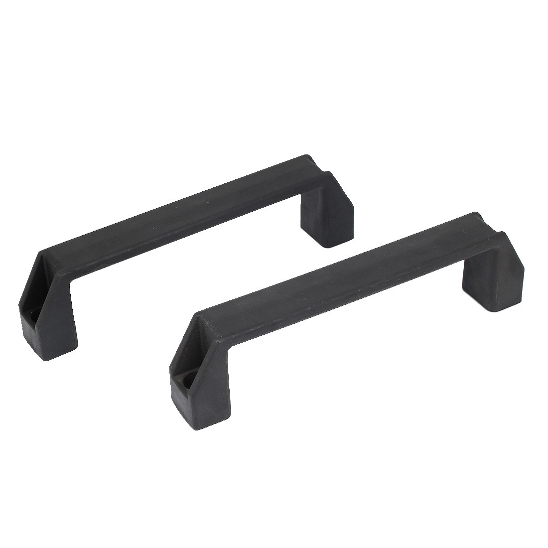 2pcs 200mm Long Rectangle Plastic Pull Handle Knob Black for Cabinet Cupboard Door