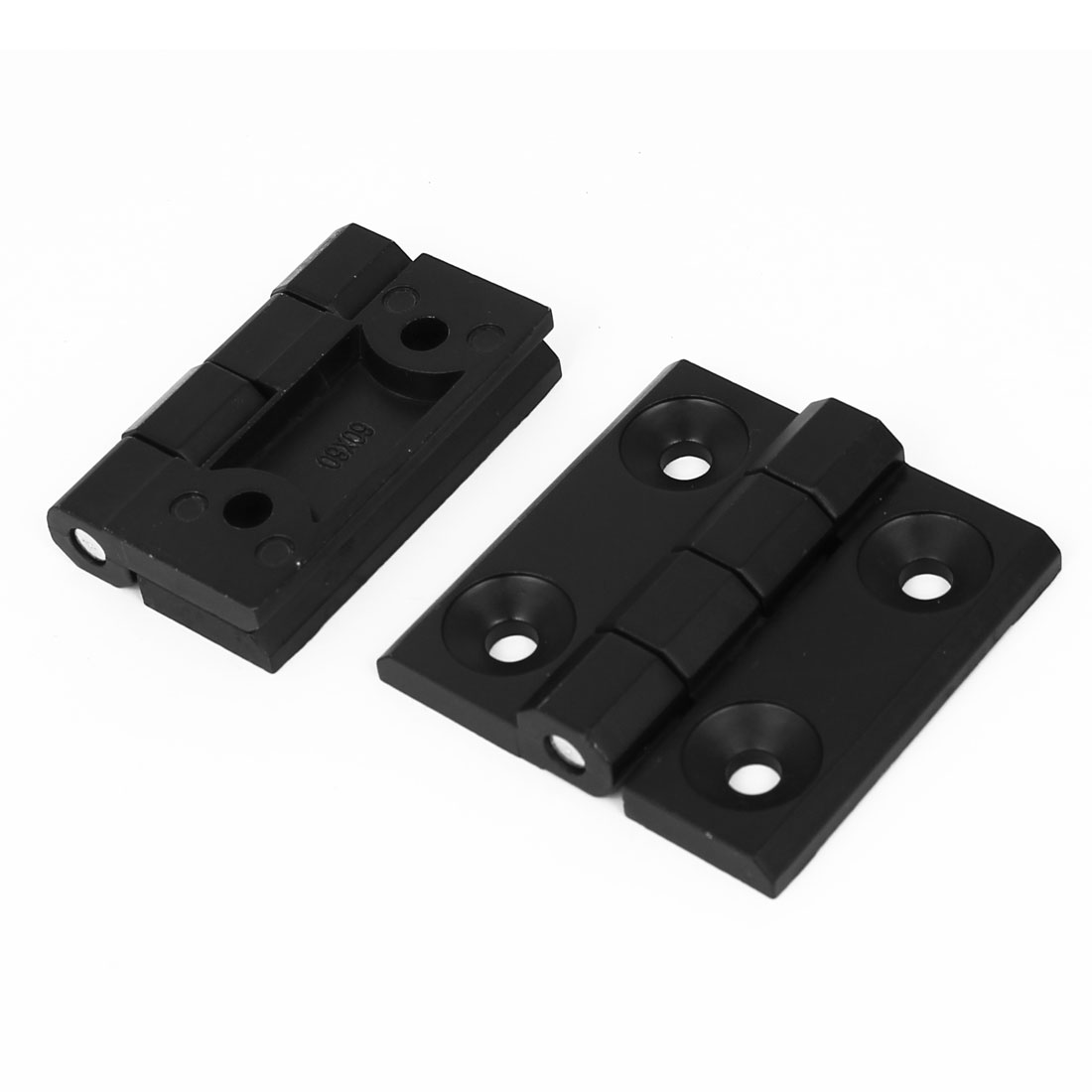 Closet Cupboard Cabinet 60mm x 60mm Zinc Alloy Door Butt Hinge Black 2pcs