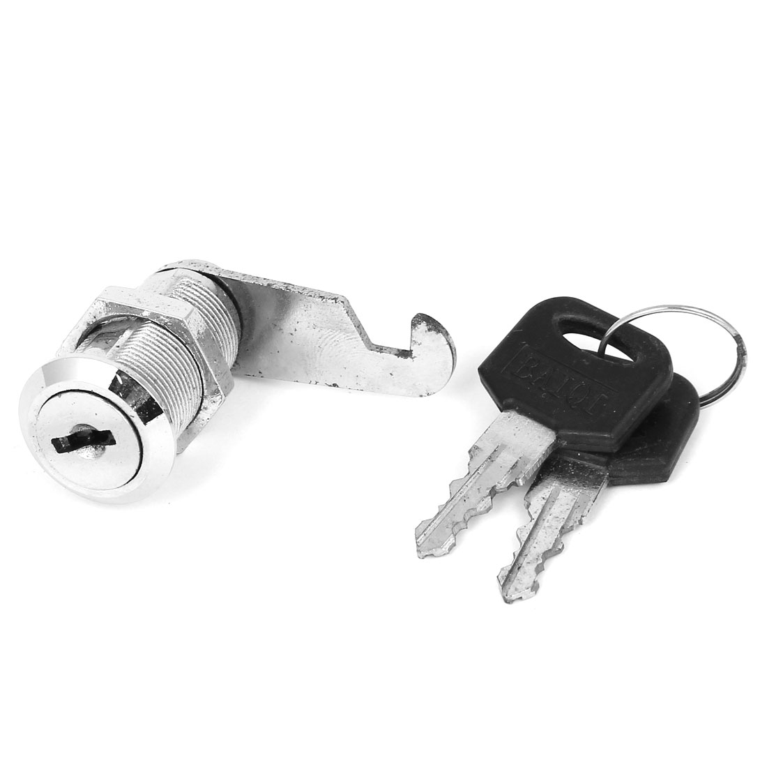 Home Office Cupboard Drawer Tubular Cam Lock Silver Tone w 2 Keys