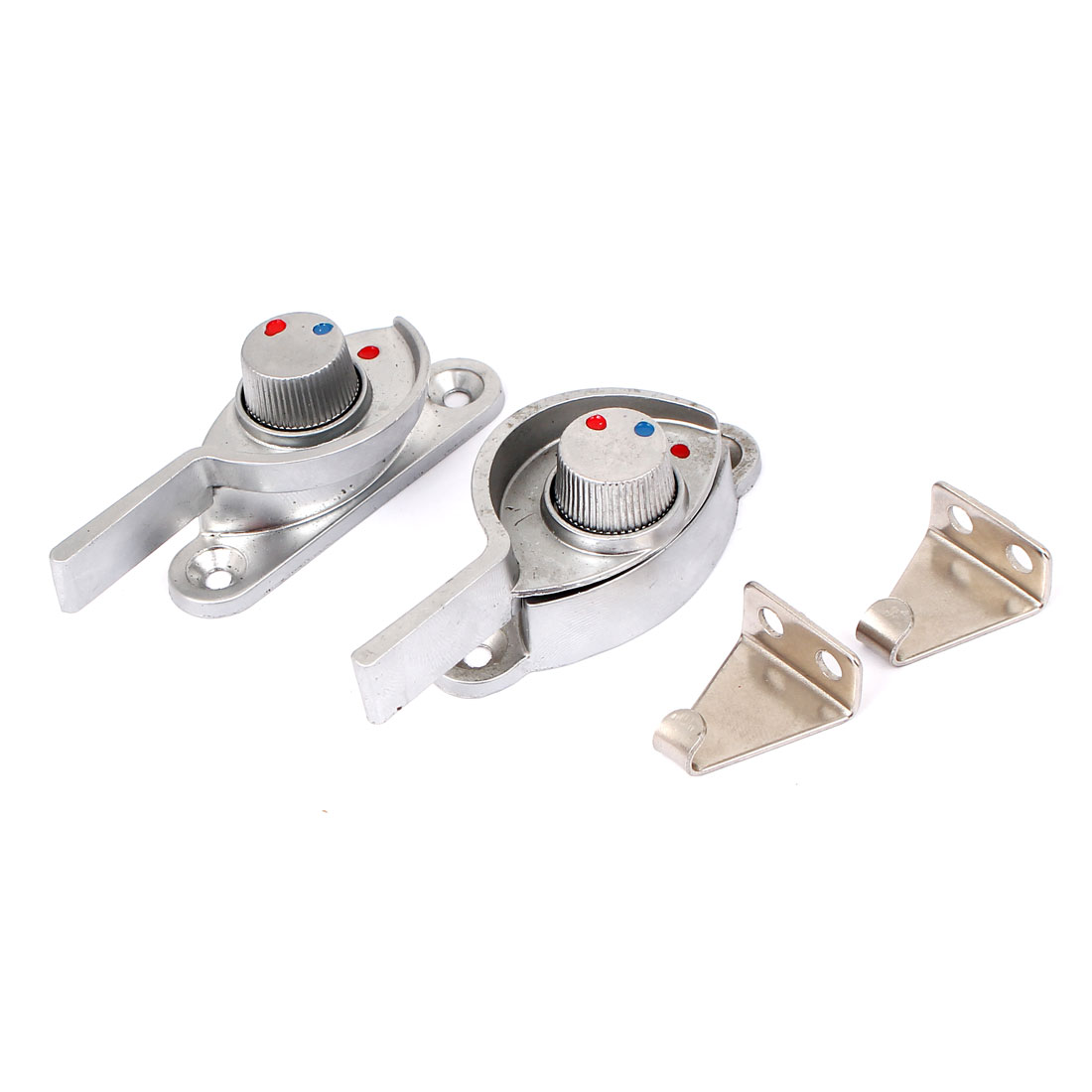 2pcs Metal Crescent Shaped Glass Window Locking Right Left Handle Casement Sash Locks
