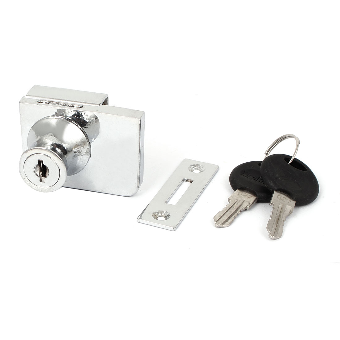 Office Shop Showcase Drawer Glass Door Security Lock Fitting 10mm Thickness w Keys