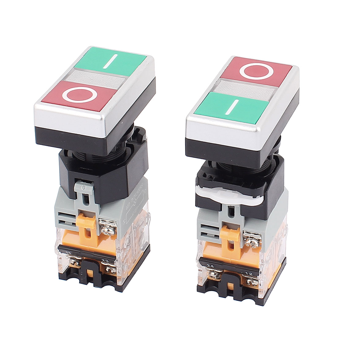 660V 10A Momentary NO/OFF 2 Buttons Controlling Push Button Power Switch 6PCS