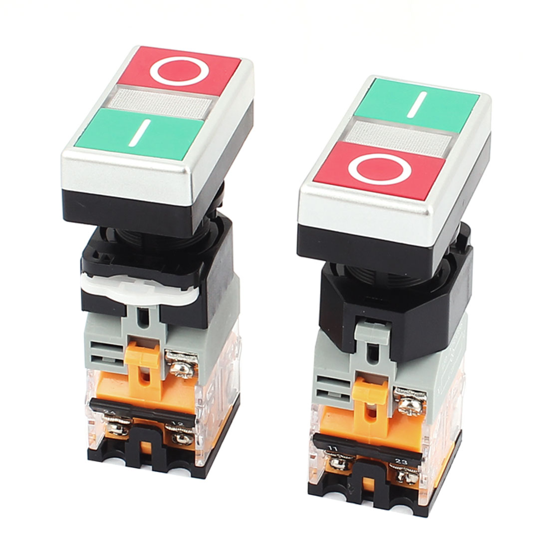 660V 10A Momentary NO/OFF 2 Buttons Controlling Push Button Power Switch 4PCS