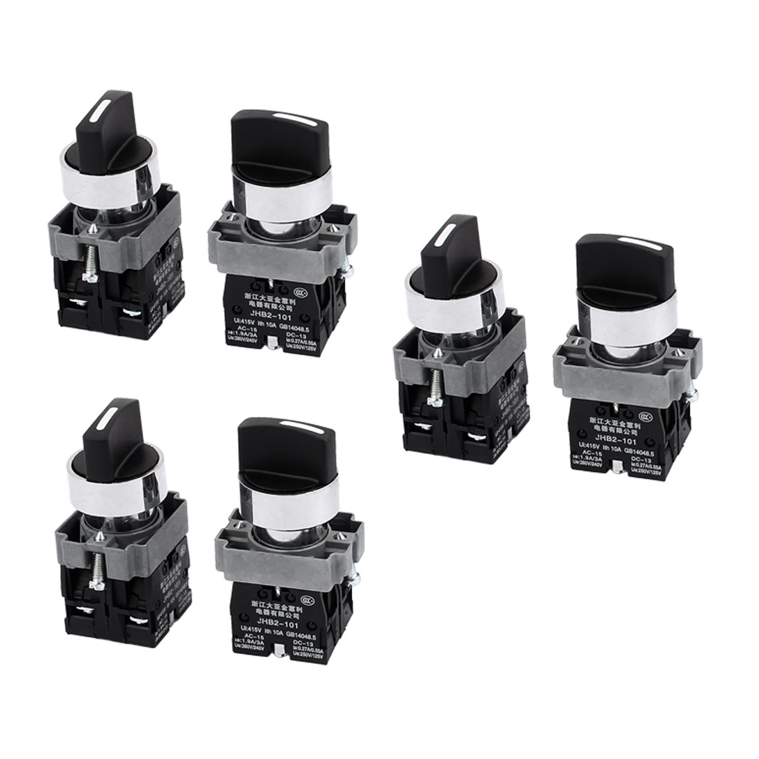 AC 415V 10A Self-Locking 2NO 3 Positions Rotary Selector Switch 6PCS