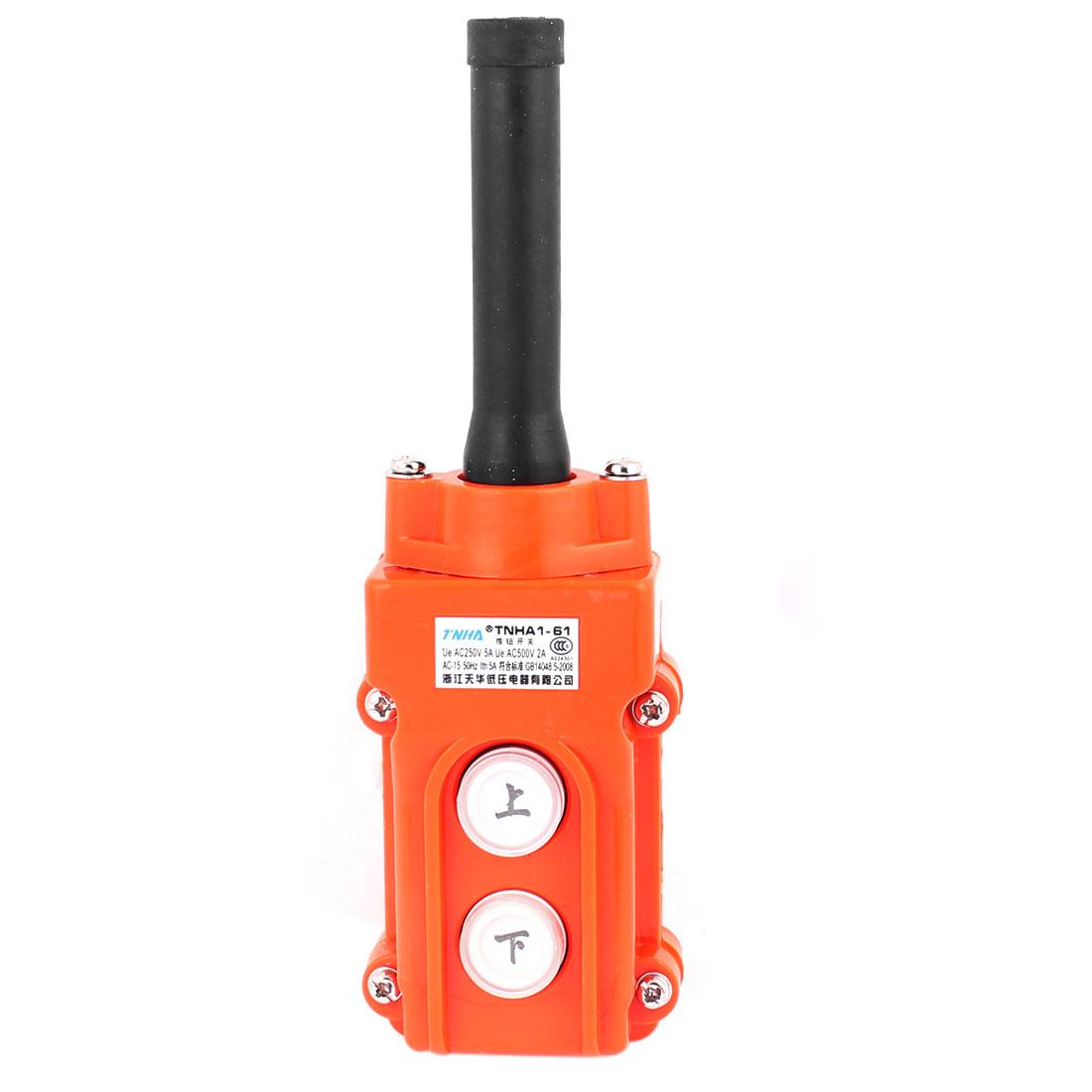Up-Down Rain Proof 2 Button Pendant Pushbutton Switch for Hoist Crane