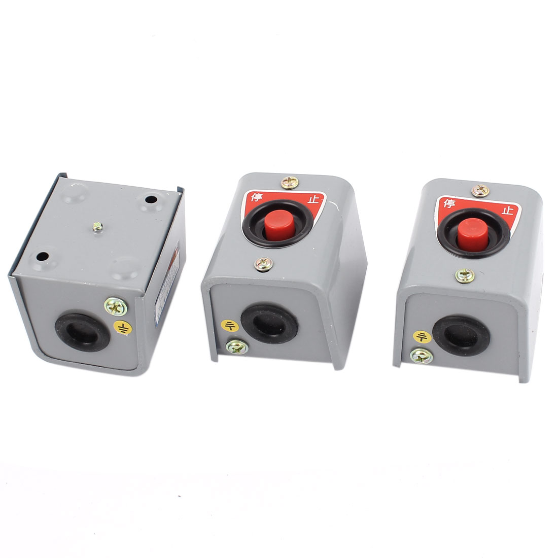 3pcs LA10-1H DPST 2NC 1P Stop Momentary Pushbutton Switch AC 380V 5A