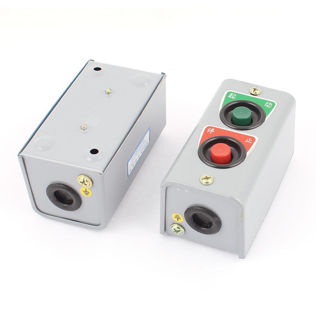 LA10-2H Momentary ON/OFF Push Button Control Switch AC 380V 5A 2pcs