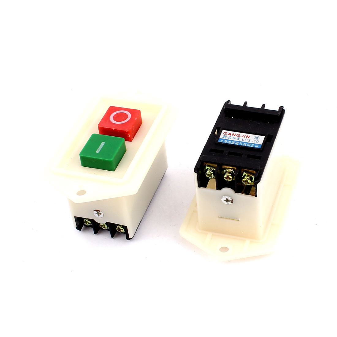 AC 220/380V 10A O/I Start Stop Self-Locking Push Button Switch 2pcs