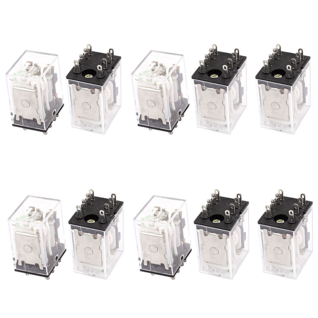HH52PL DC 24V Coil DPDT 8-Pin Power Electromagnetic Relay 10PCS