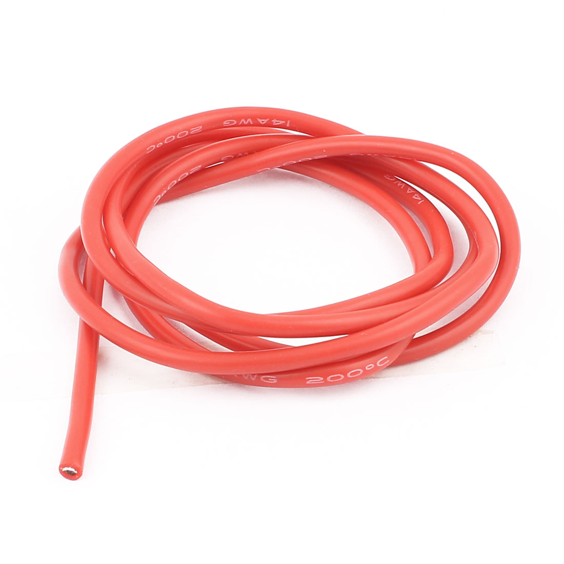 1M 14AWG Electric Copper Core Flexible Silicone Wire Cable Red