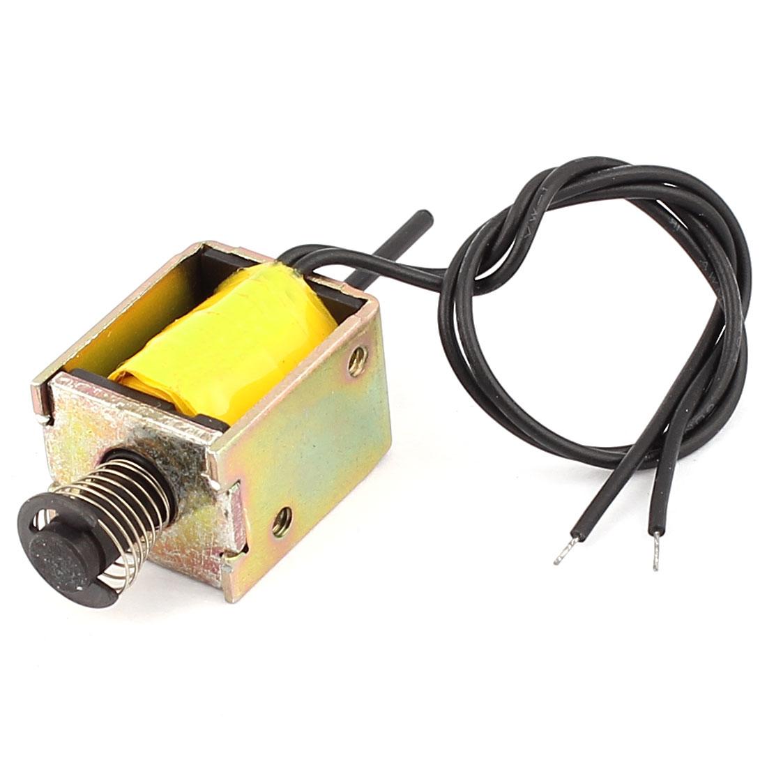 DC12V 0.2A 5mm Stroke Open Frame Actuator Solenoid Electromagnet