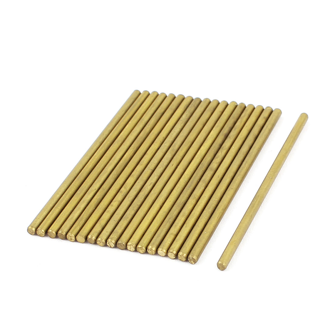 RC Helicopter Repair Parts 2mmx50mm Brass Ground Shaft Round Rod 18Pcs