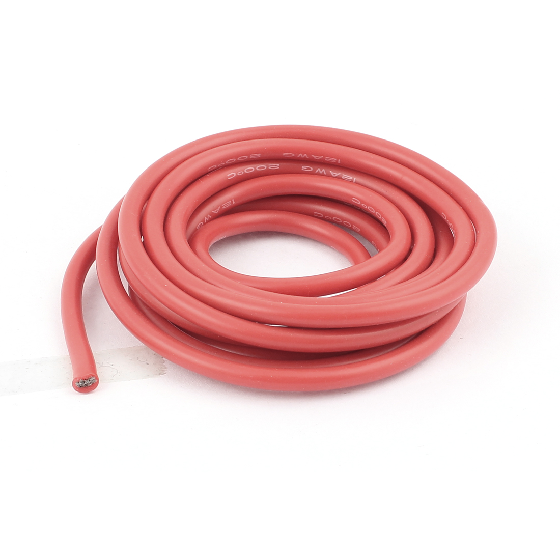 2M 12AWG Electric Copper Core Flexible Silicone Wire Cable Red