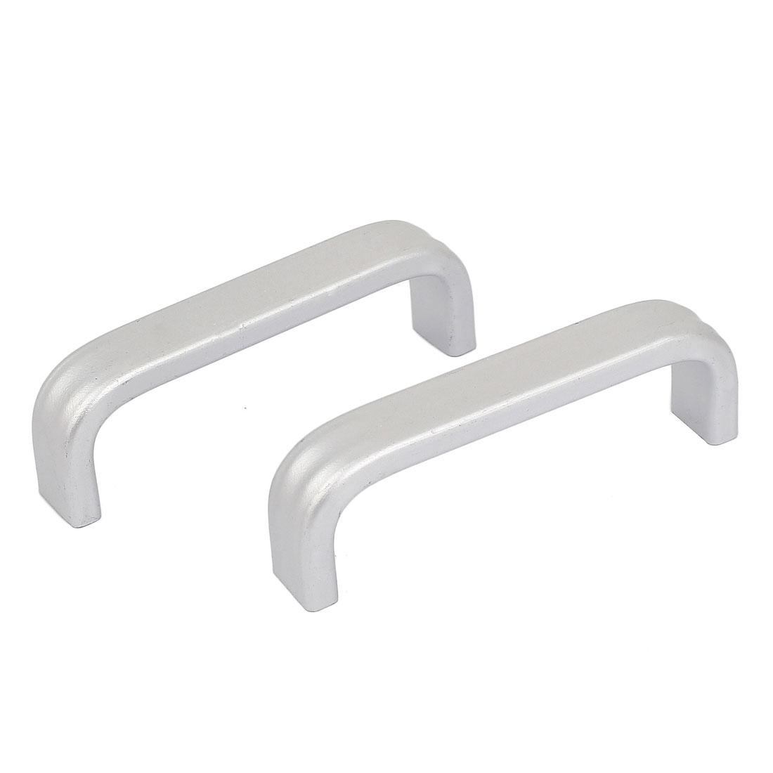 69mm Long Cupboard Kitchen Aluminum Alloy Pull Handles Handware Tool 2pcs