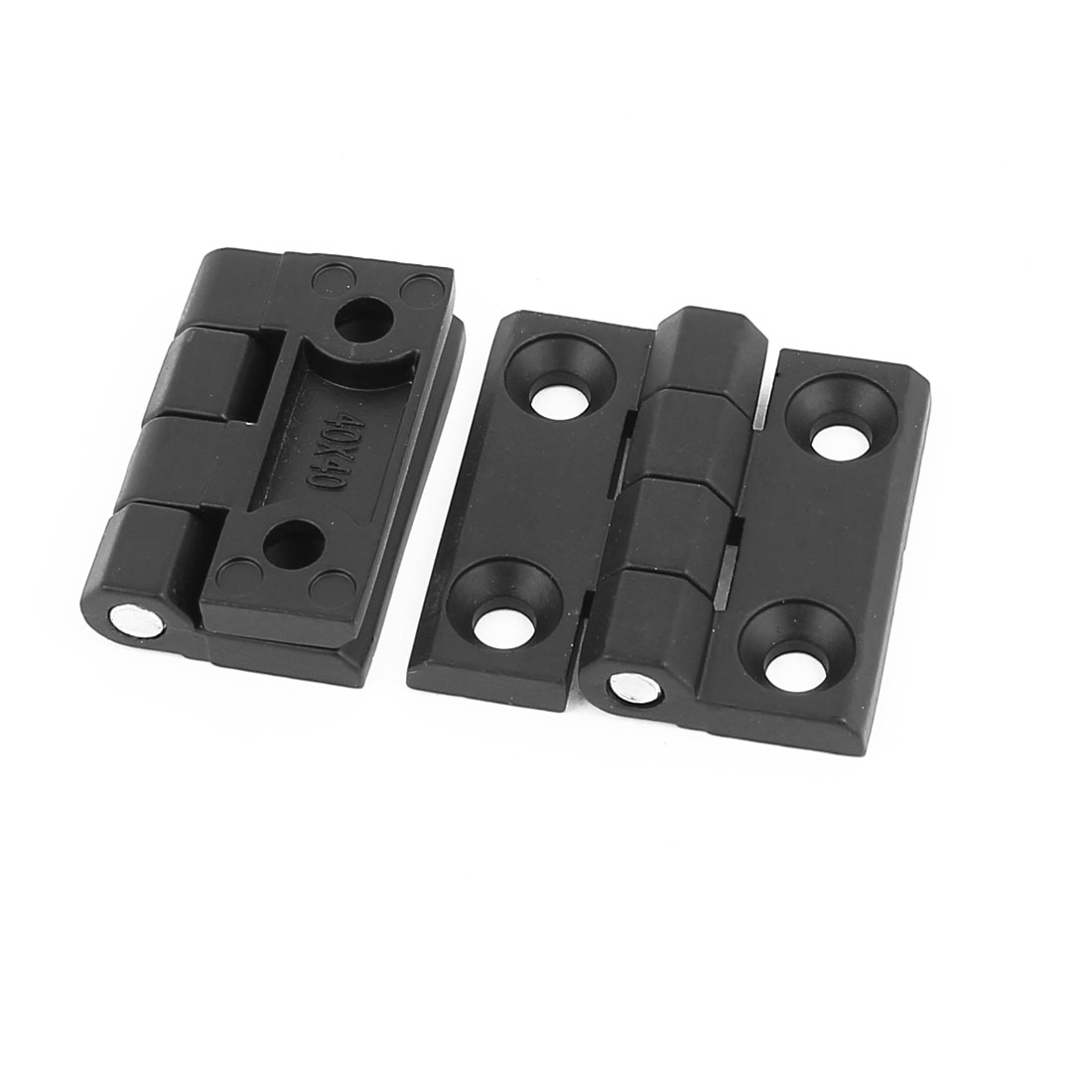 40mmx40mm 2 Leaves Reinforced Zinc Plated Door Bearing Butt Hinge Black 2pcs