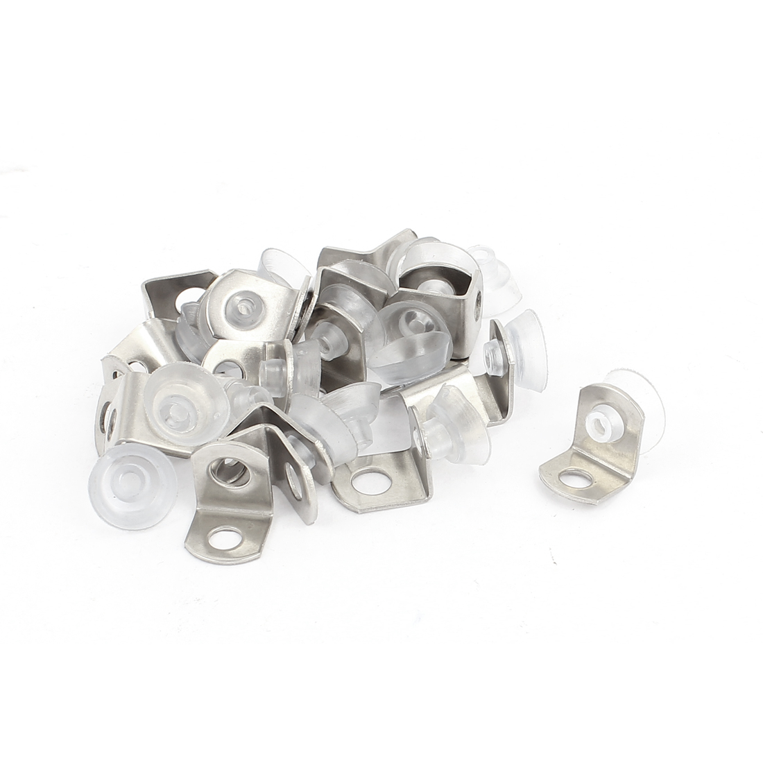 Suction Cup Plate Glass Shelf Clip Clamp Support Holder Brackets 20pcs