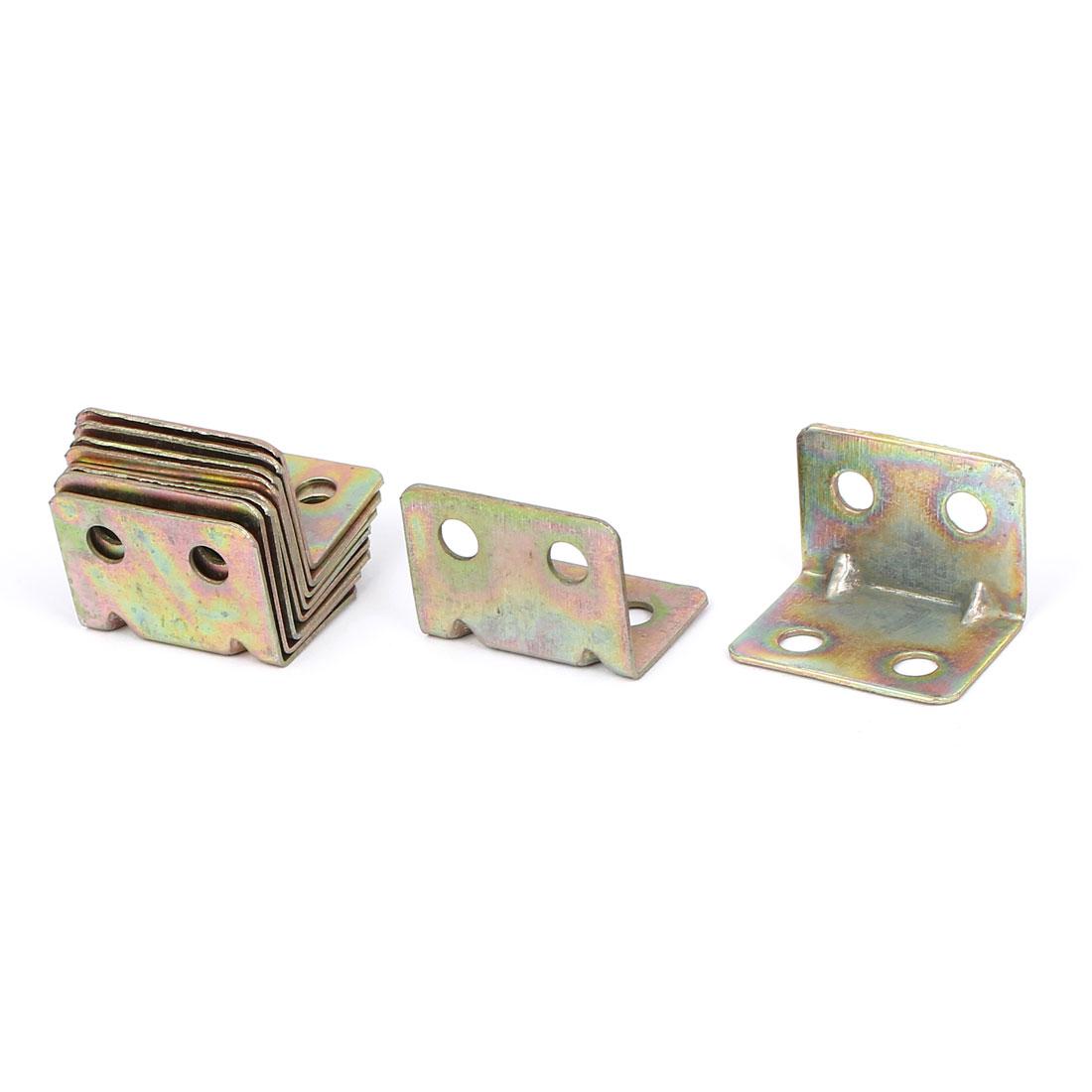 Corner Brace Joint Right Angle Bracket 20x20x28mm Bronze Tone 10pcs