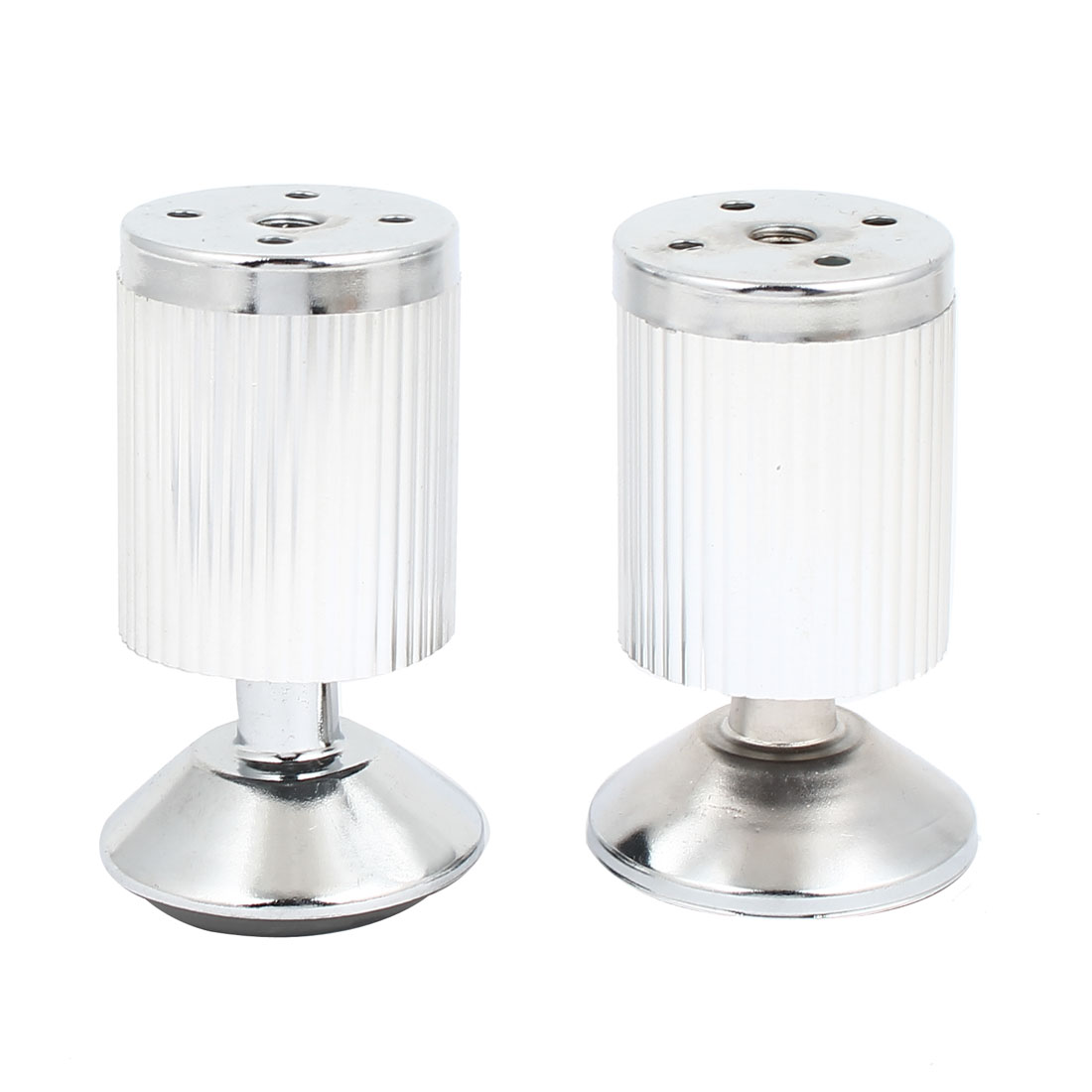 50mm Dia 100mm Height Adjustable Cabinet Sofa Table Leg Feet Round Stand 2pcs