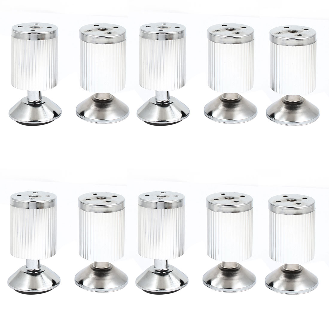 Adjustable Stainless Steel Round Furniture Cabinet Sofa Tea Table Leg Feet 10pcs