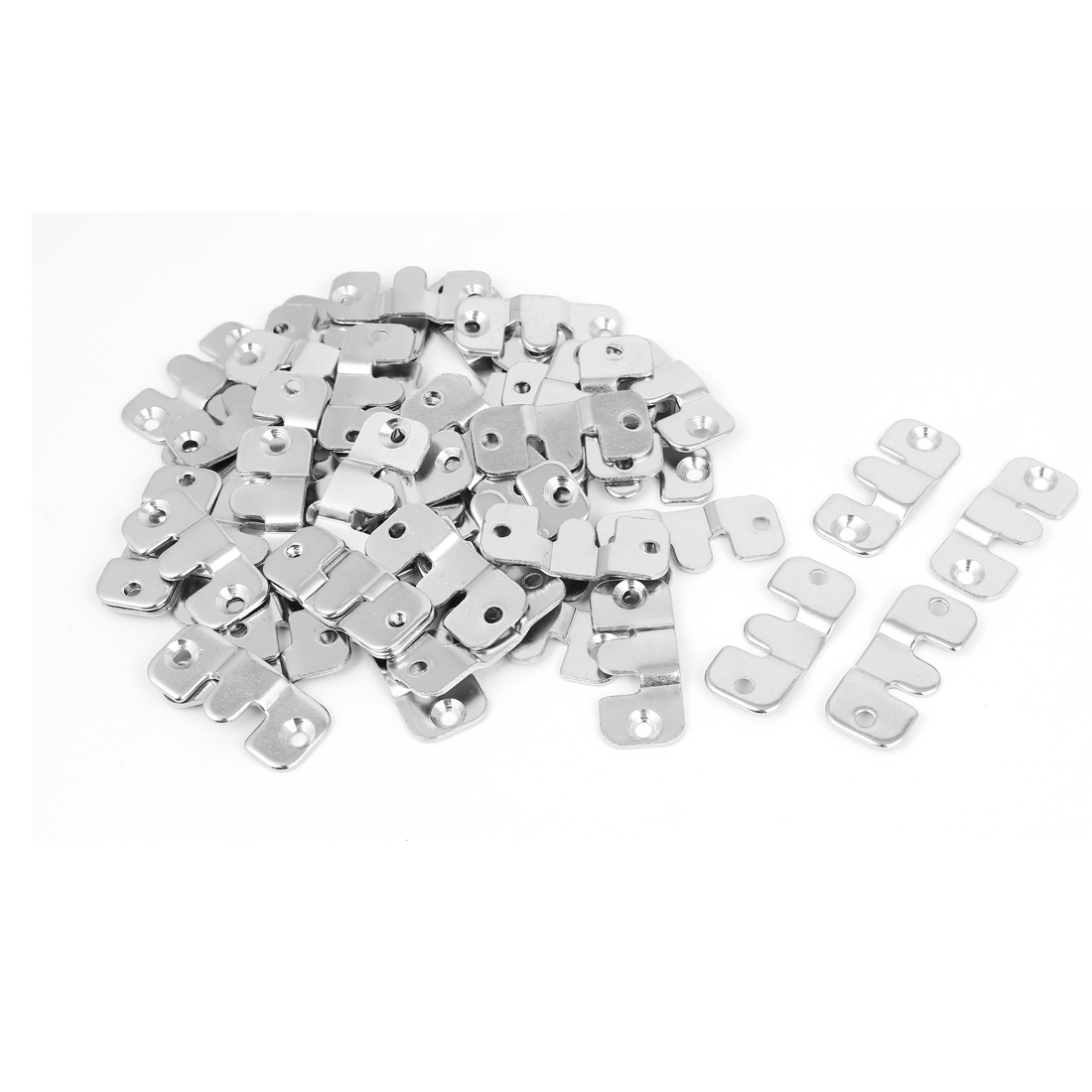 Furniture Sofa Photo Frame Metal Interlock Bracket Connector Hook 50pcs