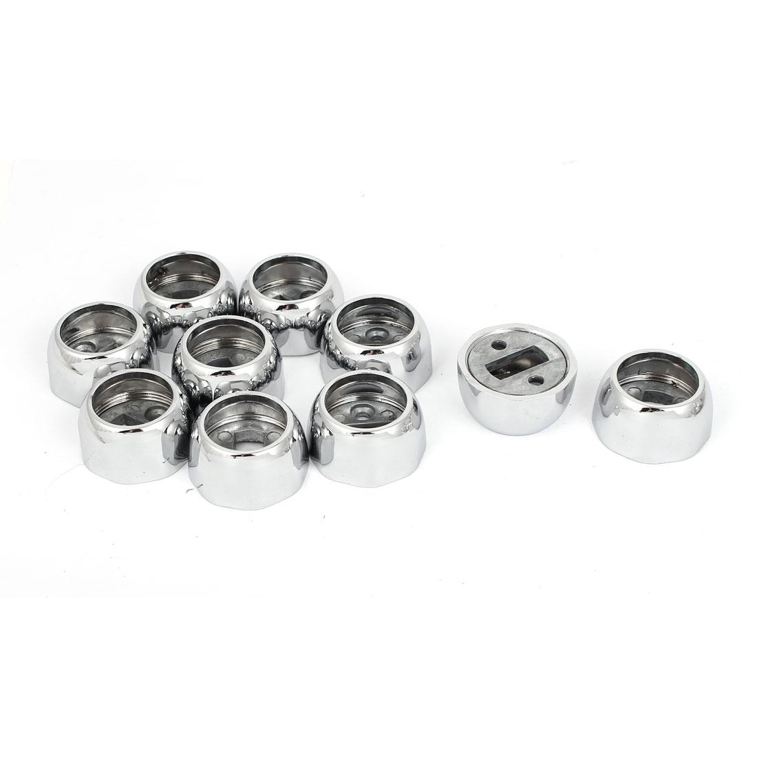 25mm Dia Alloy Closet Rod Flange Octagonal Socket Holder Bracket 20pcs