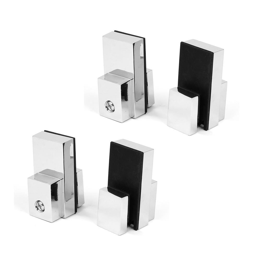 Adjustable 4mm-15mm Thick Stainless Steel Glass Clip Clamp Support Bracket 4pcs