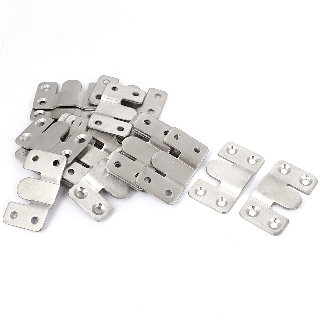 Sofa Photo Frame Interlock Bracket Joint Connector Hanging Hook 53x30mm 20pcs