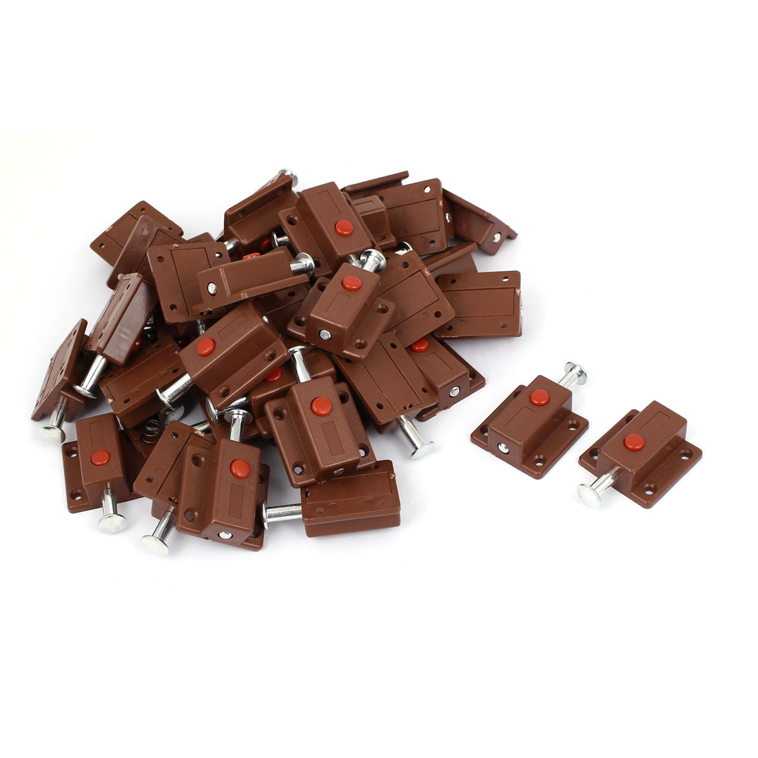 Window Cabinet Push Button Spring Load Automatic Door Bolt Latches Lock 50pcs