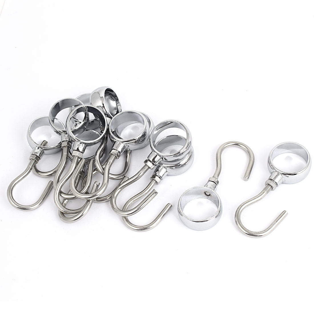 Wardrobe Bathroom 25mm Diameter Removable Clothes Hooks Hangers 12pcs