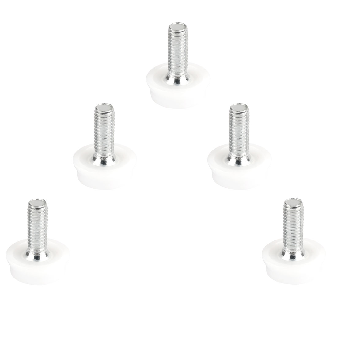 8mm x 22mm Thread Table Desk Adjustable Leveling Foot Feet 5 Pcs