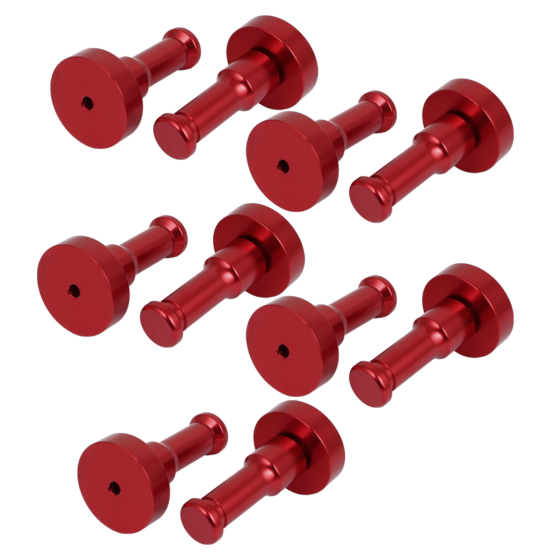 Aluminum DIY Clothes Hook Bedroom Coat Holder Decorative Wall Hanger Red 10pcs