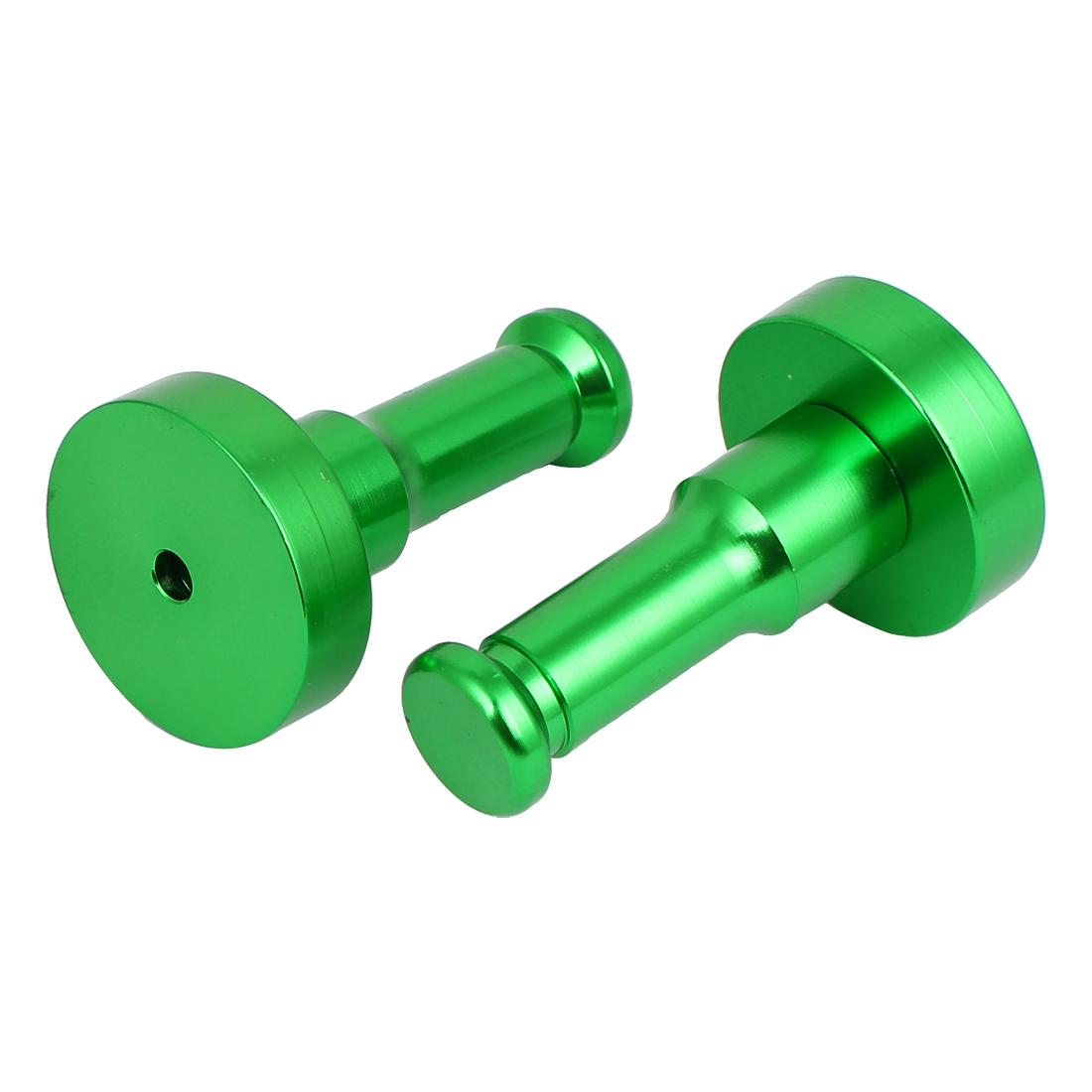 Bathroom Bedroom Clothes Round Robe Hook Decorative Wall Hanger Green 2pcs