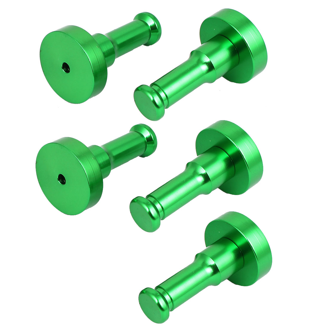 Bathroom Bedroom Clothes Aluminium Round Robe Hook Decorative Wall Hanger Green 5pcs