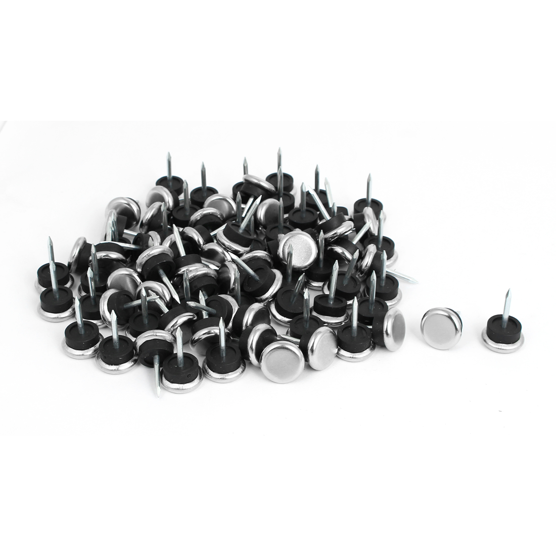 19mm Metal Furniture Chair Table Leg Glide Slide Nail Protector 80 Pcs