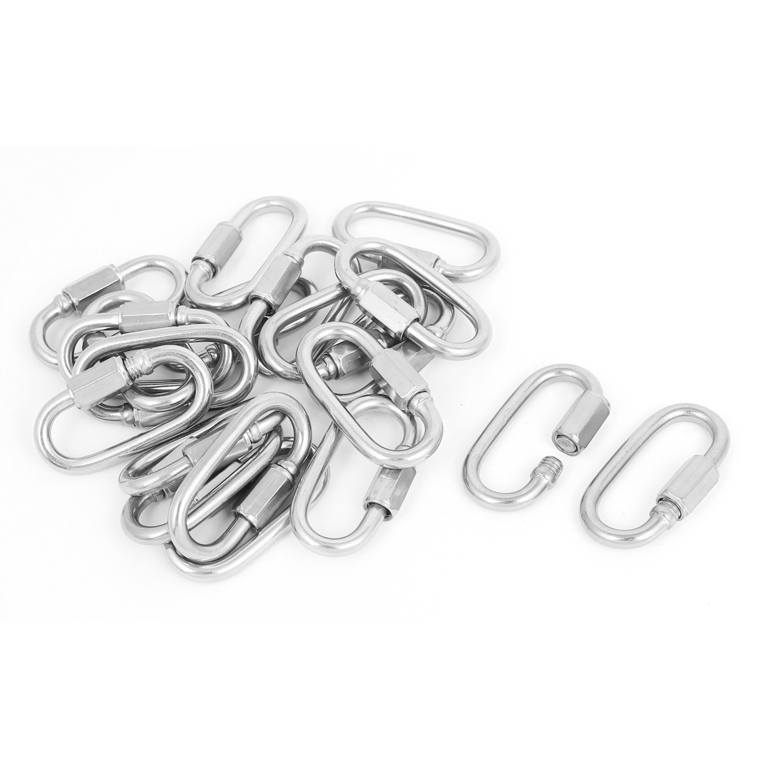 5mm Thickness Stainless Steel Quick Link Chain Rope Cable Connector 20 Pcs