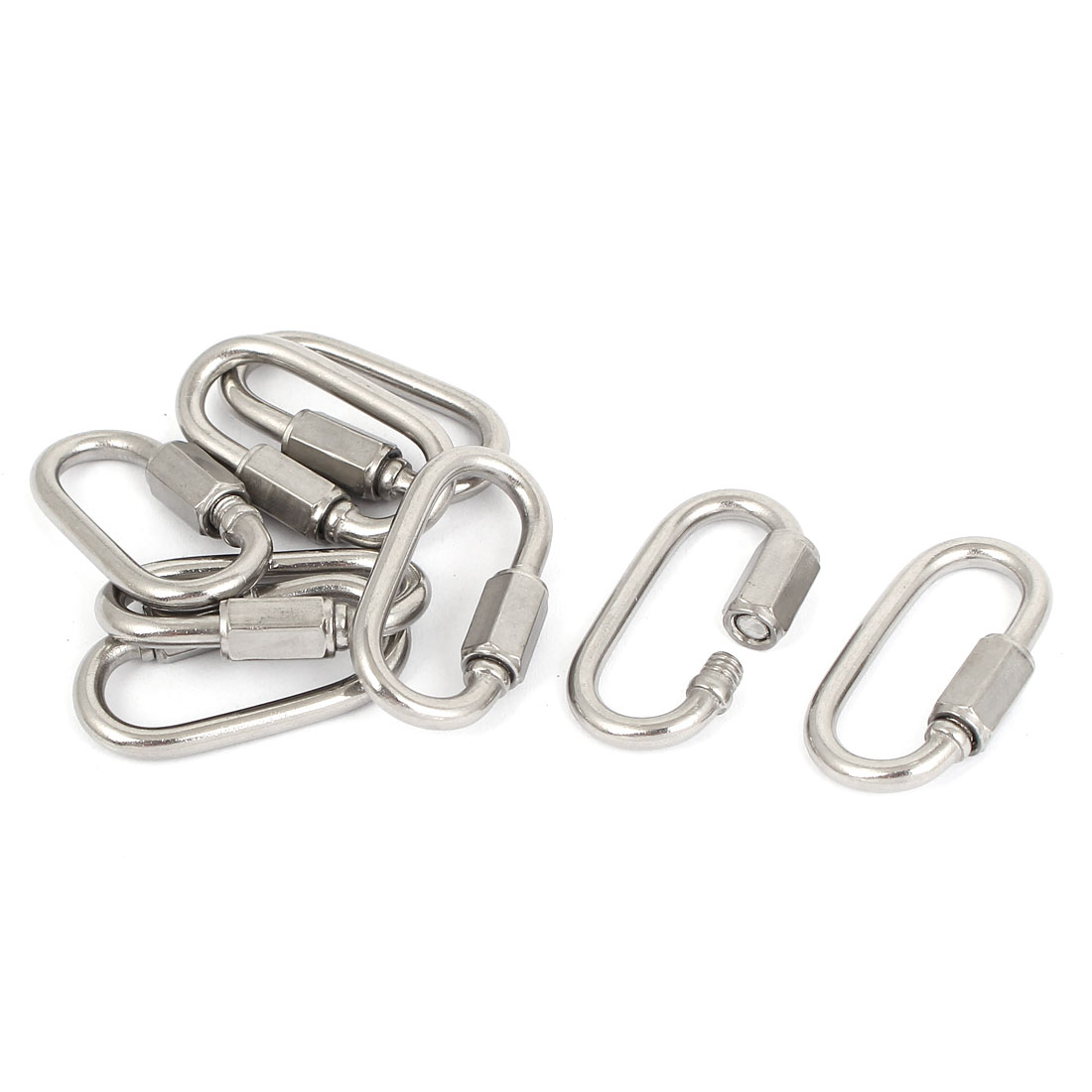 3.5mm Thickness Repair Part Stainless Steel Quick Link Chain Carabiners 8pcs