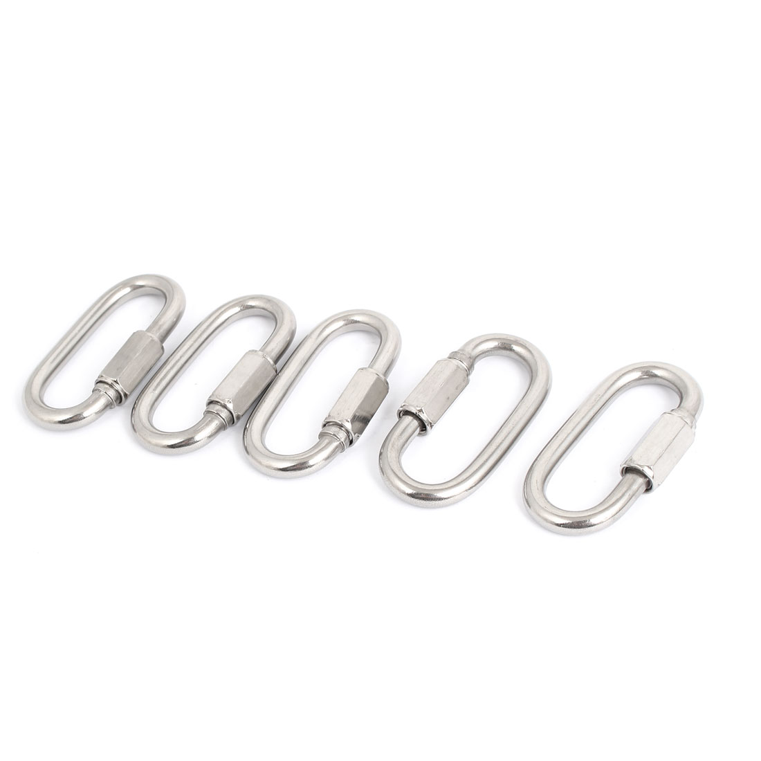 5pcs M6 Stainless Steel Hook Quick Link Chain Rope Cable Connector