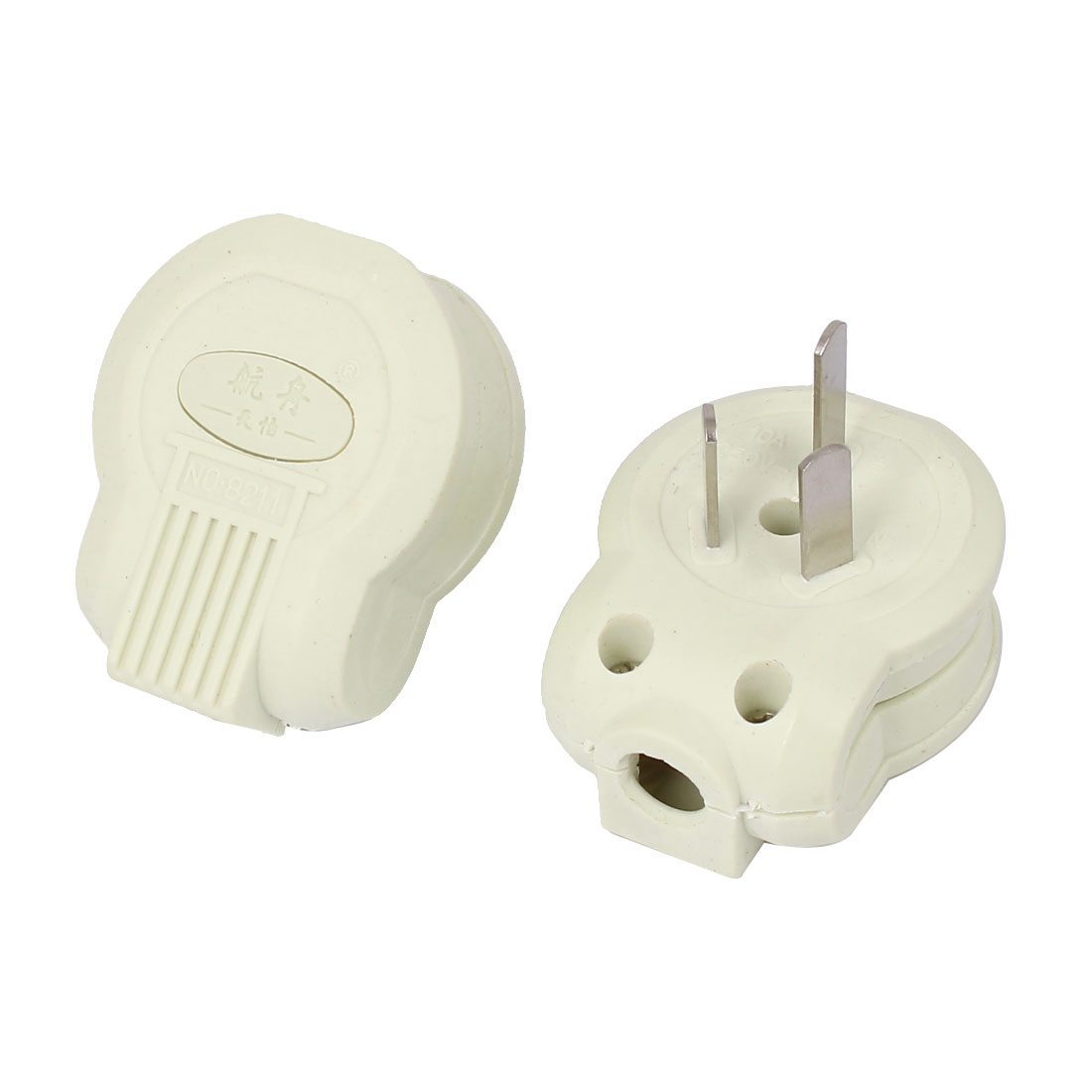 AC 250V 10A 10mm Cable Mounting Hole AU Plug Electric Cable Cord Connector 2pcs